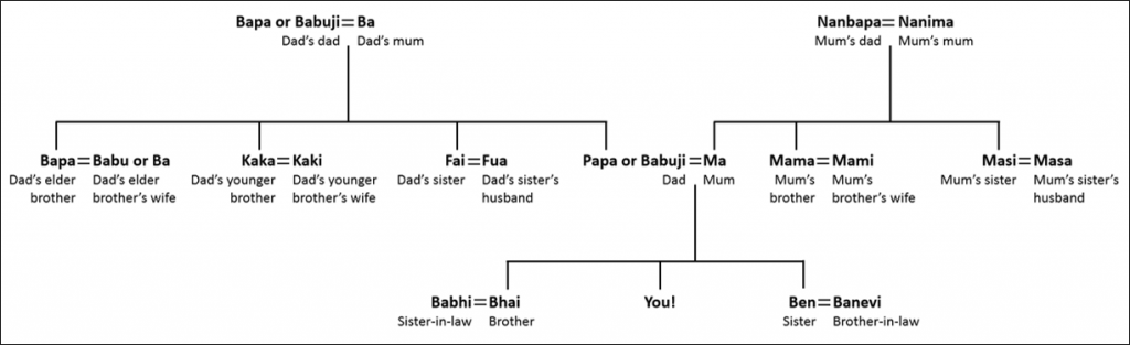 Basic Gujarati Family Relations – Nanimas